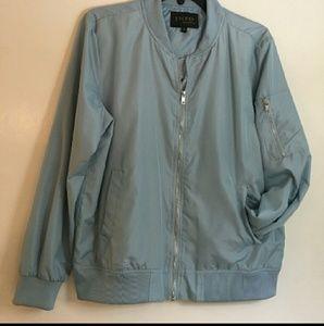 Jackets & Blazers - Baby blue bomber flight jacket